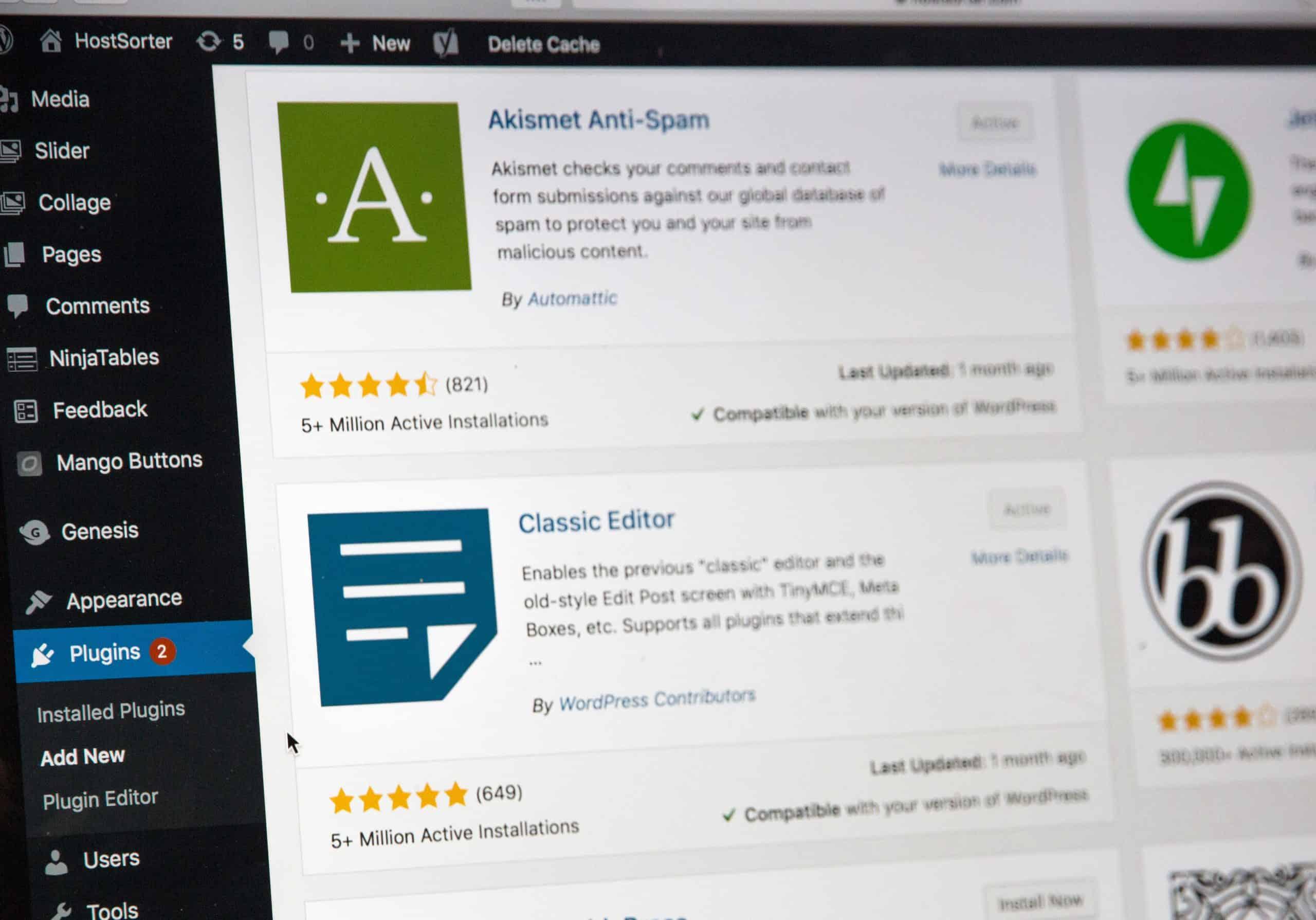 wordpress maintenance plans plugin screen